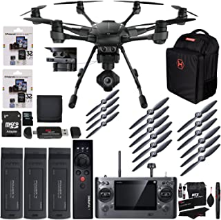Yuneec Typhoon H Pro 4k Collision Avoidance Hexacopter GCO3 4K Camera Kit, Wizard Wand, Bag, Propeller Set, Battery, Polaroid 32GB Micro SD with Adapter Bundle
