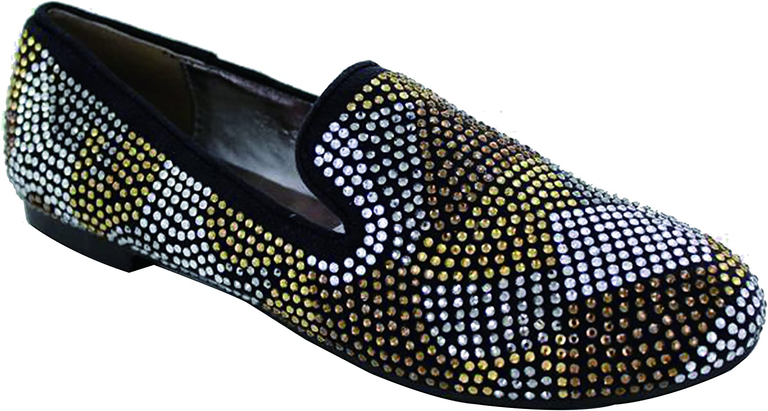 Helen's Ballet Flat Style shoes Featuring Multi-colord Rhinestone Detail