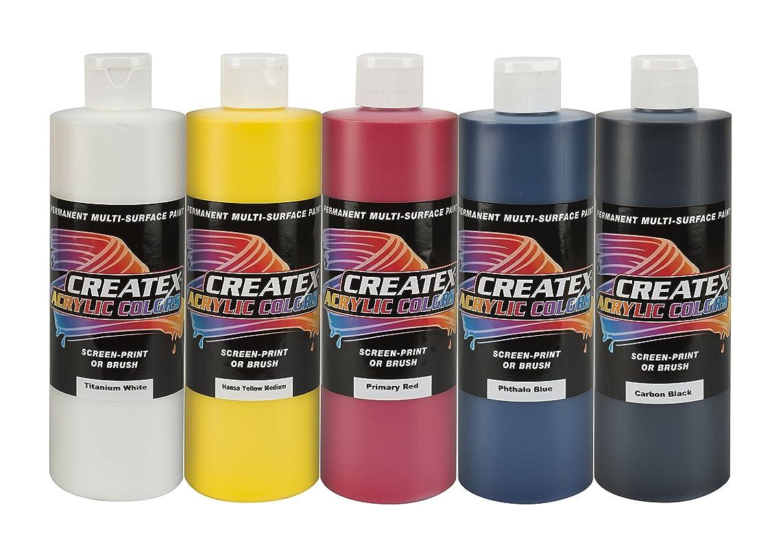 Createx Colors 16oz. Acrylic Primary Set (5 Colors),