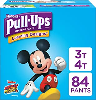 Pull-Ups Learning Designs Potty Training Pants for Boys, 3T-4T (32-40 Pounds), 84 Count (Packaging May Vary)