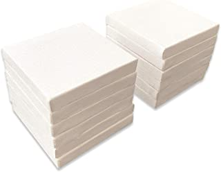 "LWR CRAFTS Mini Stretched Canvas 3"" X 3"" Pack of 12"