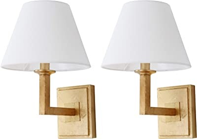 Safavieh Lighting Collection Pauline Wall Sconce 14.5-inch Gold (Set of 2)