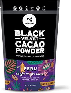 Weirdo Good Black Velvet Cacao Powder – Organic, Allergen-Free, Premium Ultra-Dutched Cocoa for Baking, 14 oz.