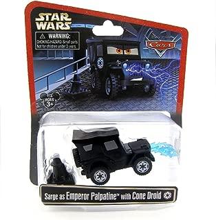 Disney Star Wars Pixar Cars Sarge as Emperor Palpatine with Cone Droid 1/55 Die-Cast Series 3 NEW 2015 Release