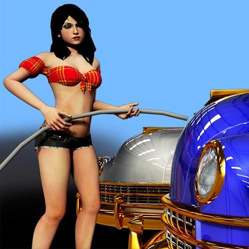 Bikini Car Wash : Cheerleader Luxury Vehicle Cleaning - Free Edition