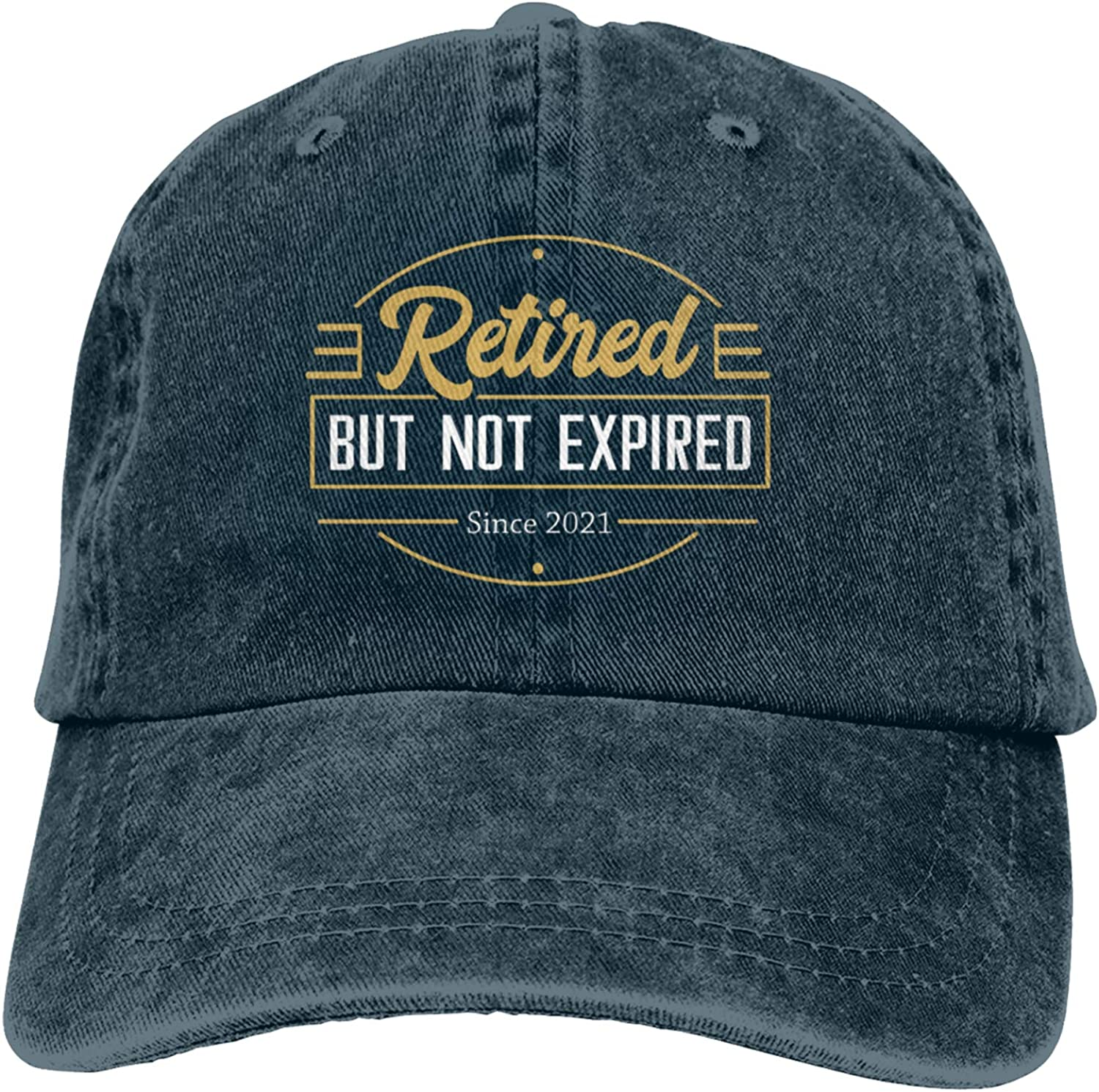 Retired 2021 Retired But Not Expired Retro Washed Baseball Cap, Retro Adjustable Classic Dad Gift Hats for Men