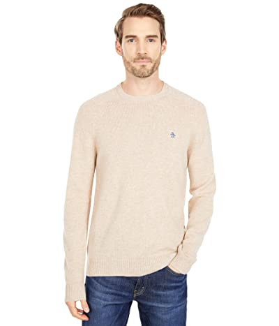 Original Penguin Wool Raglan Crew Sweater (Turtledove) Men