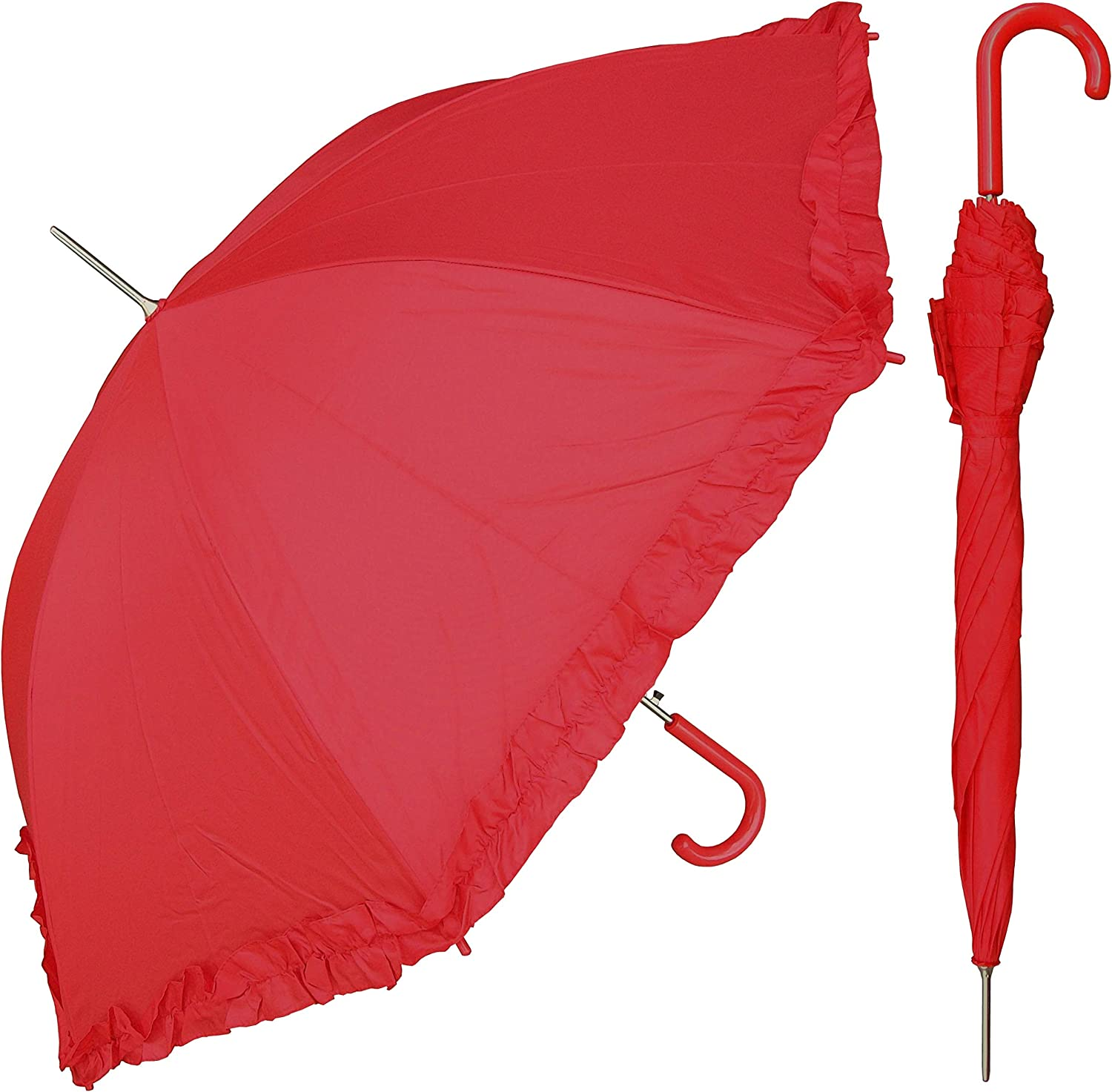 RainStoppers Women's Our shop most popular 67% OFF of fixed price Open Parasol Ruffle Umbrella with