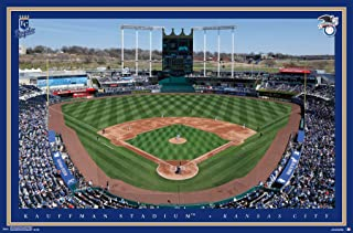 Trends International MLB Kansas City Royals-Kauffman Stadium Mount Wall Poster, 22.375