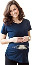 Maternity Baby Peeking T Shirt Funny Pregnancy Tee for Expecting Mothers
