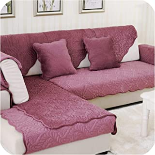 Joyfeel-light 3D Stone Pattern Sofa Cover Towel Slipcover Plush Fabric Thick Sofa Modern Non Slip Sofa Couch Cover Corner Towel Mats 1Pcs,1Pcs Purple1,70X210Cm 1Pc