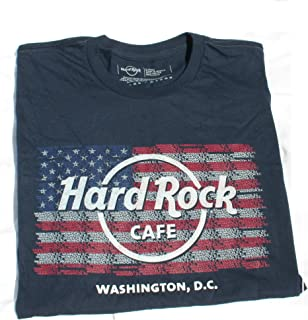 Hard Rock Cafe Washington DC ~ USA Flag Logo Repeat City T-Shirt Men's NWT