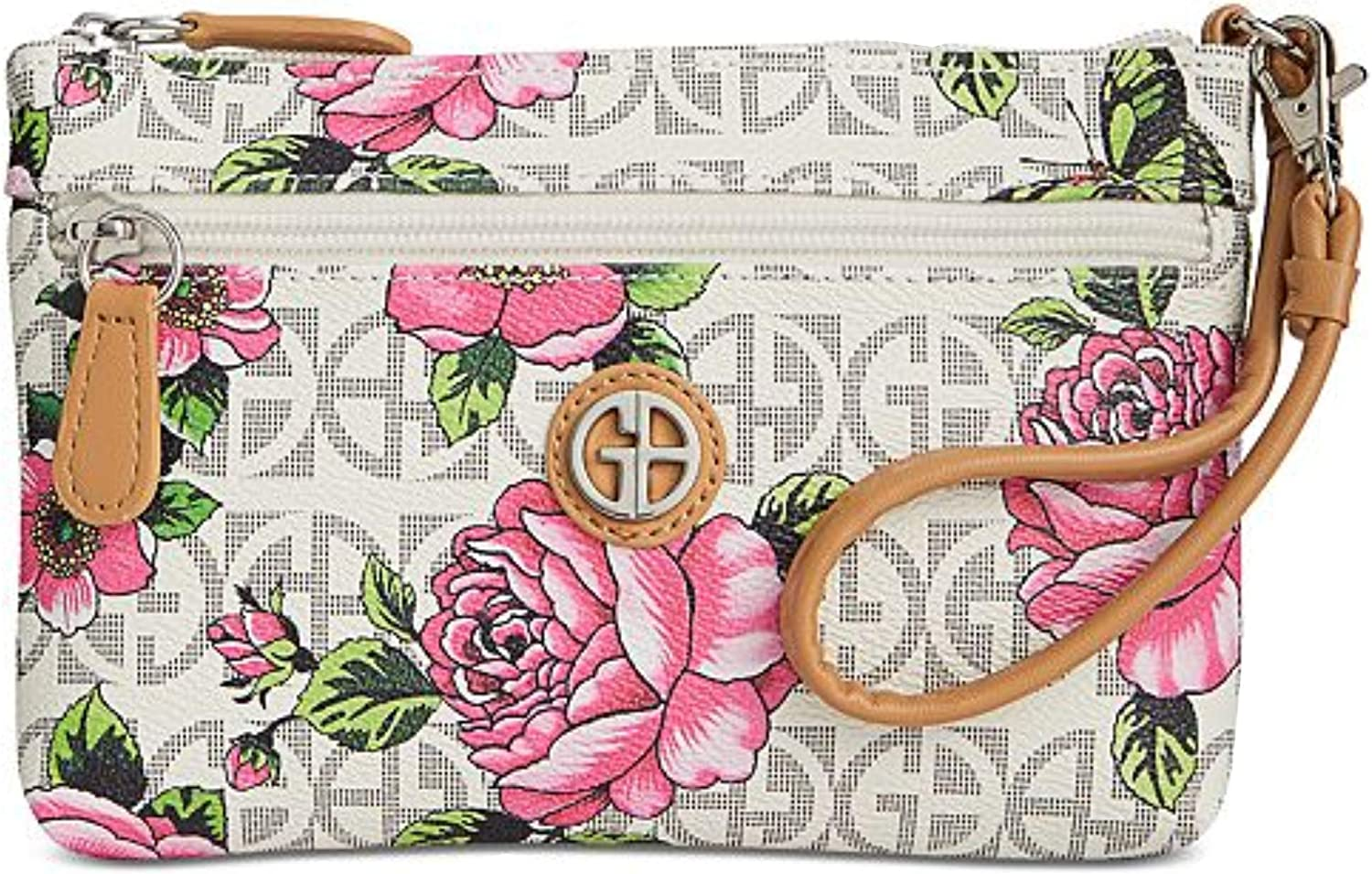 Giani Bernini Block Signature Floral Wristlet, Small
