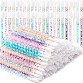 200 Pieces Disposable Lip Brushes Glitter Crystal Lip Brush Lip Gloss Applicators Lipstick Gloss Wands Makeup Brushes Tool...