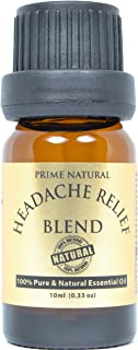 Headache Relief Essential Oil Blend 10ml / 0.33oz - Natural Pure Undiluted Therapeutic Grade for Aromatherapy, Scents & Diffuser - Tension, Relaxation, Stress Relief, Anxiety Relief