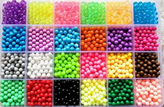 Vytung Water Fuse Beads Kit-3600 Beads 24 Colors(6 Glow in Dark) Mega Bead Refill Beads for Kids Beginners Activity Pack(3600 Beads Refill Pack)