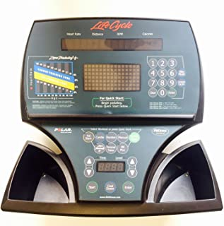Life Fitness Display Console Panel & PCB Works Lifecycle Upright Bike 9500 HR 95c