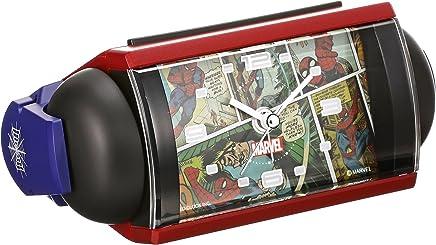 セイコー クロック 目覚まし時計 マーベルコミック スパイダーマン アナログ 大音量 ベル音 赤 FD819R SEIKO