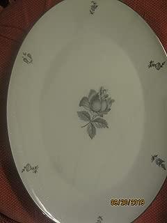 Vintage Vita Craft Fine China Bavaria Germany Midnight Rose Oval Plate