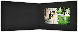 Golden State Art, Acid-Free Photo Folders for 4X6 Picture Horizontal,Pack of 50 Black Cardboard/Paper Frames,Great for Portraits and Photos,Special Events: Graduation,Wedding,Baby Showers