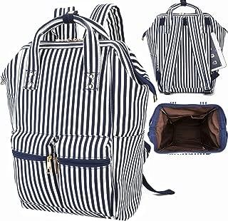 Girls School Backpack Women College Bookbag Girly Travel Rucksack 15.6Inch Laptop Bag Stripe