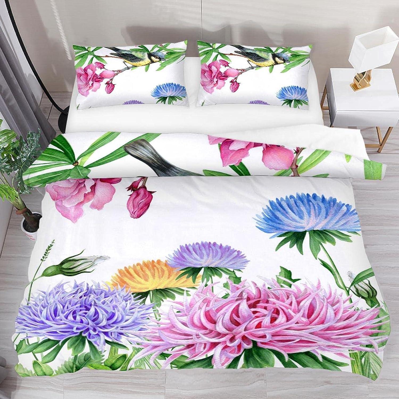 xinxunfushi Bird Floral Ranking TOP17 Bedding 3 C Boys Girls Award Piece Set