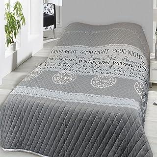 Home Edition Couvre-lit matelassé et matelassé - 240 x 220 cm - Good Night