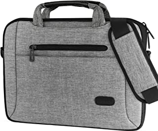 ProCase 14-15.6 Inch Laptop Bag, Suit Multi-Functional Briefcase Messenger with Shoulder for MacBook Pro, Ultrabook Notebook MacBook Chromebook Computer-Grey
