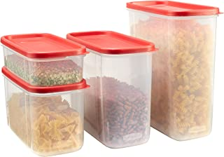 Rubbermaid 1776474 Rubbermiad Modular Canisters Food Storage, 8-Piece Set, clear