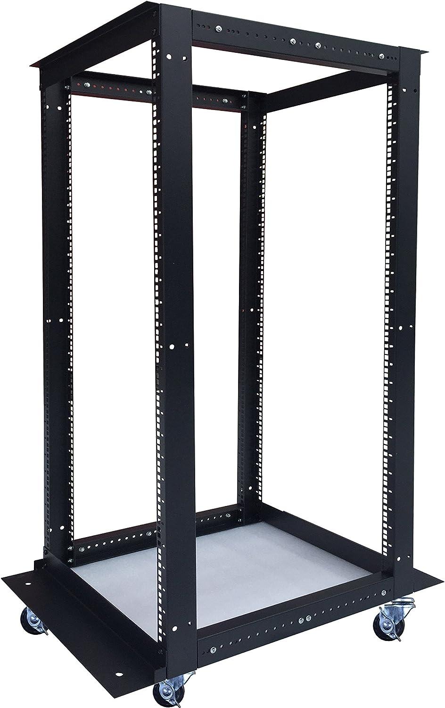 Sysracks 18U 4 Post Open Frame 19 inch Network Server Rack Relay Cabinet Adjustable Depth 24