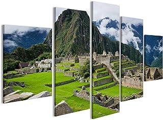 murando Quadro 90x60 cm 3 Pezzi Stampa su Tela in TNT XXL Immagini Moderni Murale Fotografia Grafica Decorazione da Parete Kontinent Legno k-C-0035-b-f