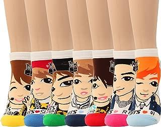 BTS 7 Members K-pop Star Socks 7 Pairs Jungkuk J-Hope Suga V Jin Jimin Rap Mon