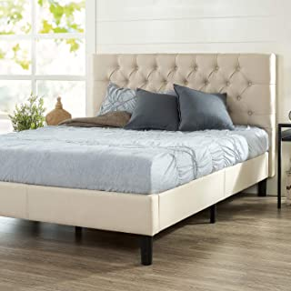 ZINUS Misty Upholstered Platform Bed Frame / Mattress Foundation / Wood Slat Support / No Box Spring Needed / Easy Assembl...