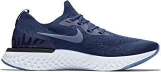 Nike Men's Epic React Flyknit Running Shoes (12, College Navy/Diffused Blue)