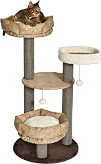Midwest Homes for Pets 47.7-Inch Feline Nuvo Summit Fashionable Cat Tree with Removable Lounging Cat Bed, Brown & Tan (139...