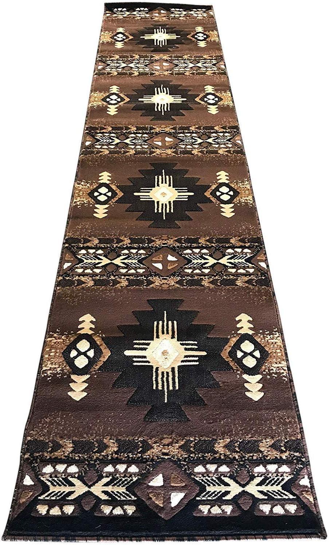 Southwest Native American Navajo 税込 激安通販 Aztec Tribal Indian Carpet Blac