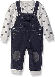 Calvin Klein Baby Boys 2 Pieces Overall Set