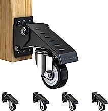 GBL® 4 x Zwenkwielen 50mm met Schroeven - Meubelzwenkwiel Zwaar Rubberen Zwenkwielen voor Meubels - Wielen Karretje - Tran...