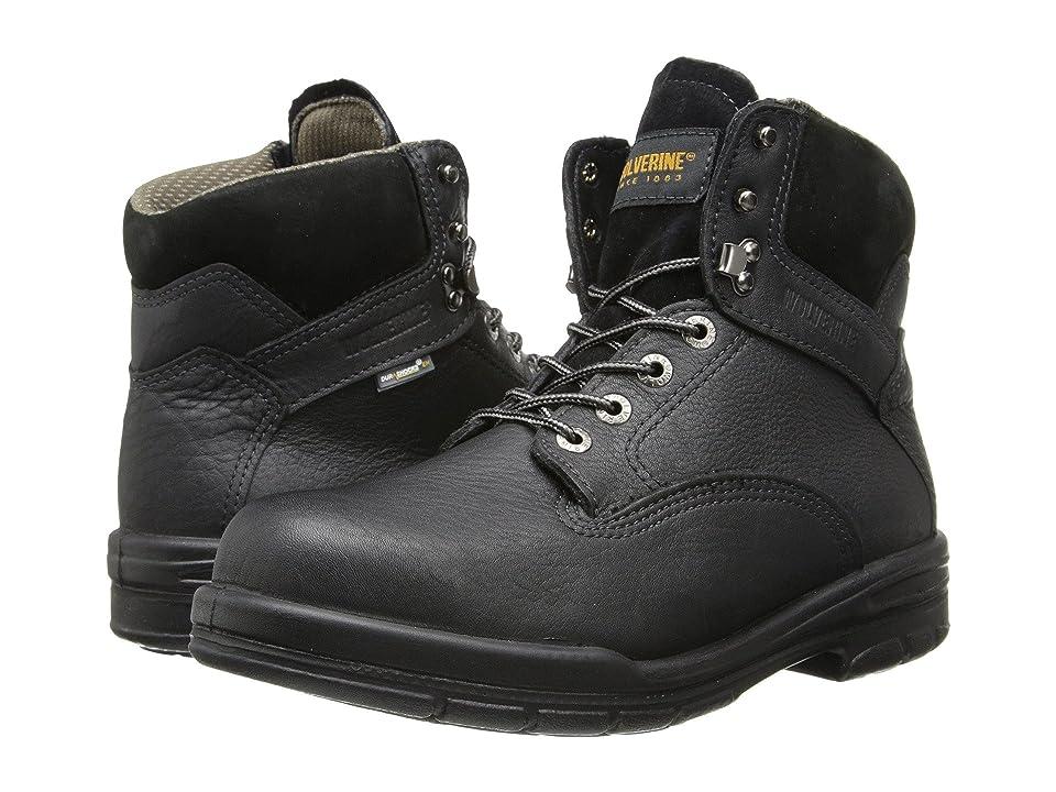 Wolverine 6 DuraShocks(r) SR Steel-Toe Boot (Black) Men