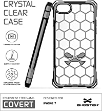 Ghostek iPhone 7 Case, Covert Series for Apple iPhone 8 Premium Hybrid Impact Protective Armor Case Cover | Clear TPU | Explosion-Proof Screen Protector | Ultra Fit | Bumper Spring Corners (Gray)