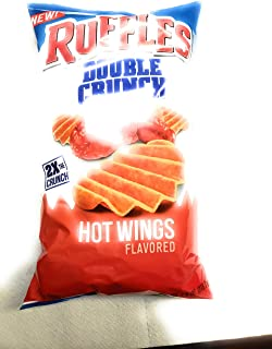 Ruffles Ridged Double Crunch, Hot Wing, 7.75 Ounce (Pack of 14)
