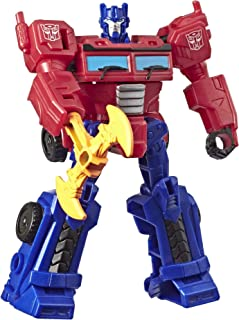 Transformers Toys Cyberverse Action Attackers Scout Class Optimus Prime Action Figure - Repeatable Energon Axe Attack Move - for Kids Ages 6 & Up, 3.75