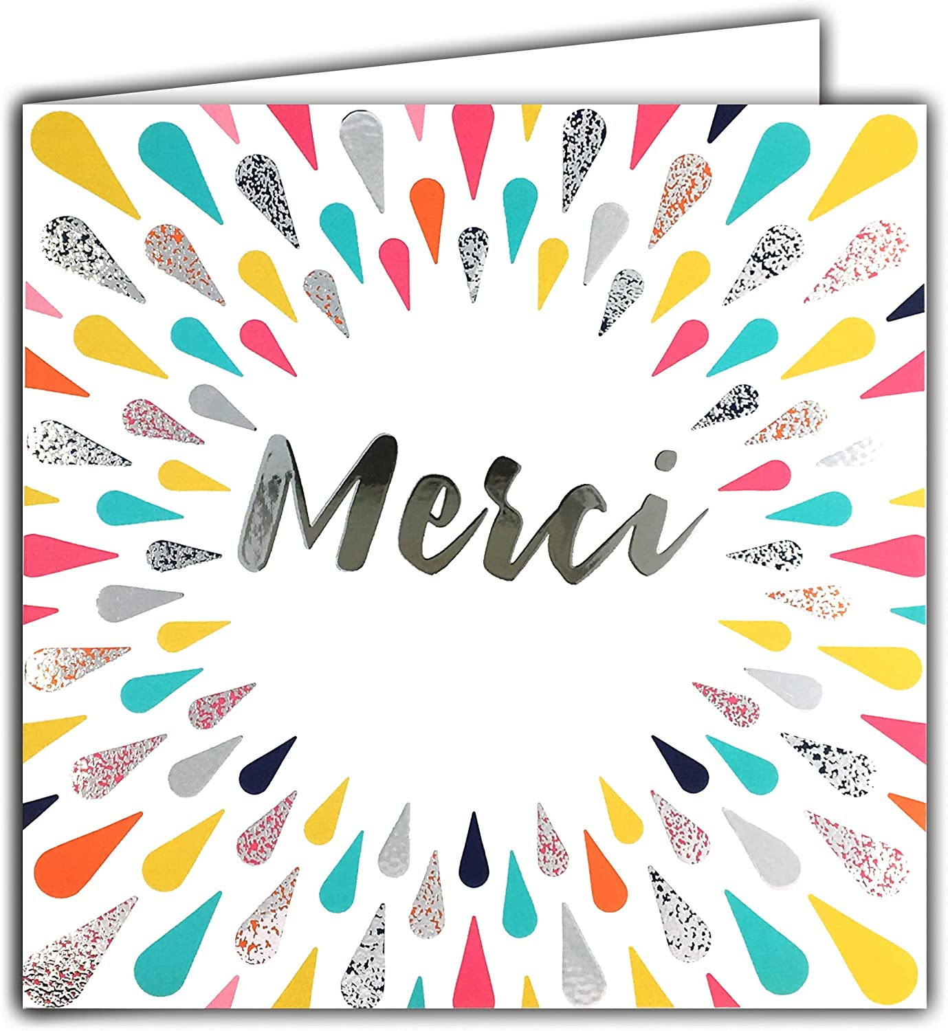 Silver Square Thank Card Factory Max 88% OFF outlet You