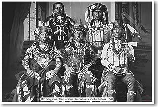 Native Americans - Oto Delegation 1881 - NEW Classroom Social Studies Poster