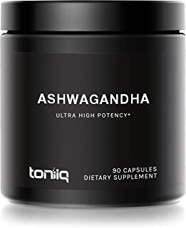 10% Withanolides Ultra High Strength Ashwagandha Capsules - 19,500mg 15x Concentrated Extract - Wild Harvested in India - ...