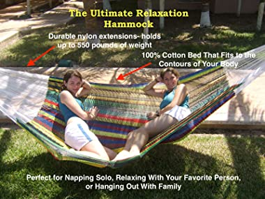 The Ultimate Mayan Relaxation Hammock   Perfect for 1 to 3 People   Comfortable, Beautiful, & Hand Made in The Yucatan  