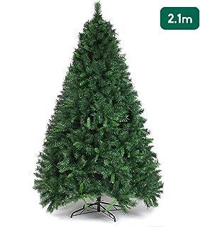 comprar comparacion SALCAR Árbol de Navidad de 210 cm, Árbol Artificial con 868 Puntas, ignífugo, Abeto, construcción rápida Incl. Soporte par...