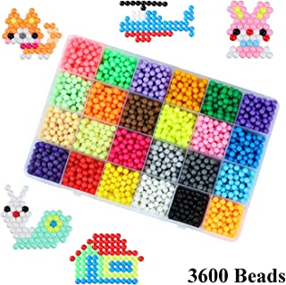 Souarts 4800PCS//24Colors//5mm-Mixed Fuse Beads Kits Plastic Perler Beads Art Crafts Toys for Kids Beginners