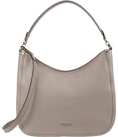 Kate Spade New York Roulette Large Hobo Bag (Warm Taupe) Handbags