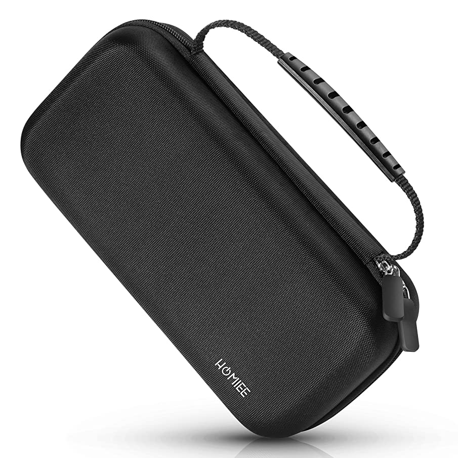 Portable Hard EVA Case, HOMIEE Protective Hard Shell Travel Carrying Bag with Handle and Mesh Pocket for Hard Drive Enclosure, Power Bank, Cell Phone, Headset, USB Cable and Electronic Accessories